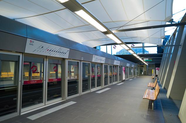 Station CHUV - Métro m2