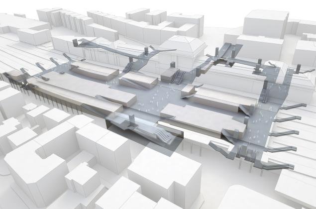 Sous-sol Gare de Lausanne