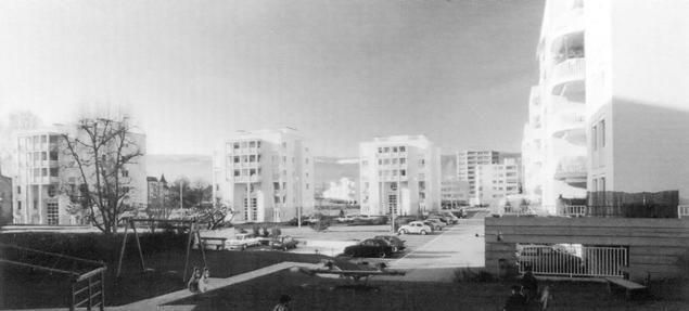 Quartier derrière l'hôpital