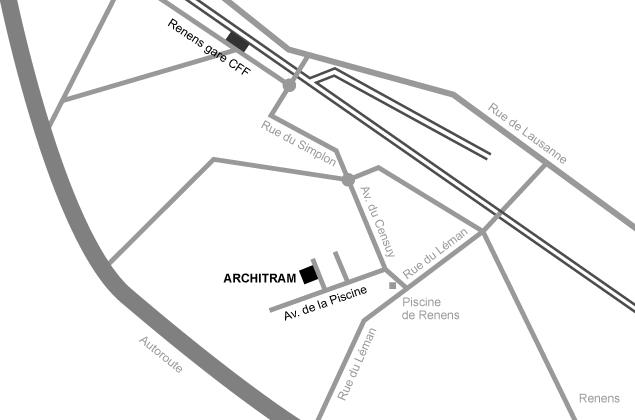 Plan d'accès Architram